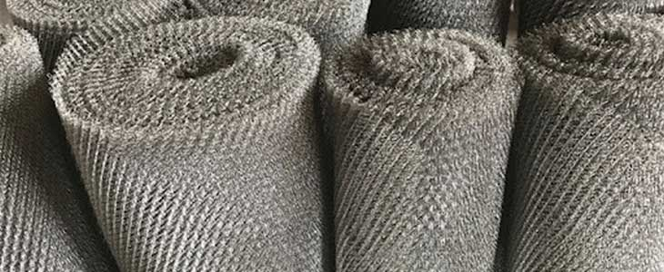 Knitting Wire Mesh Corrosion Resistance For Demister Pad