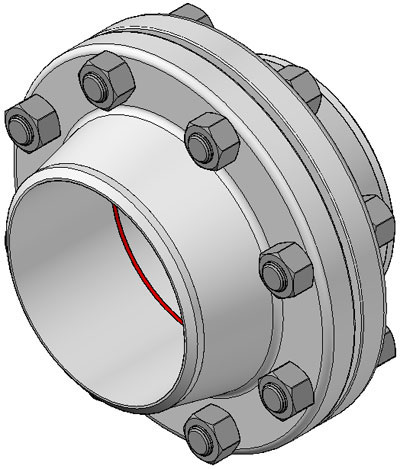 Typical flange connection