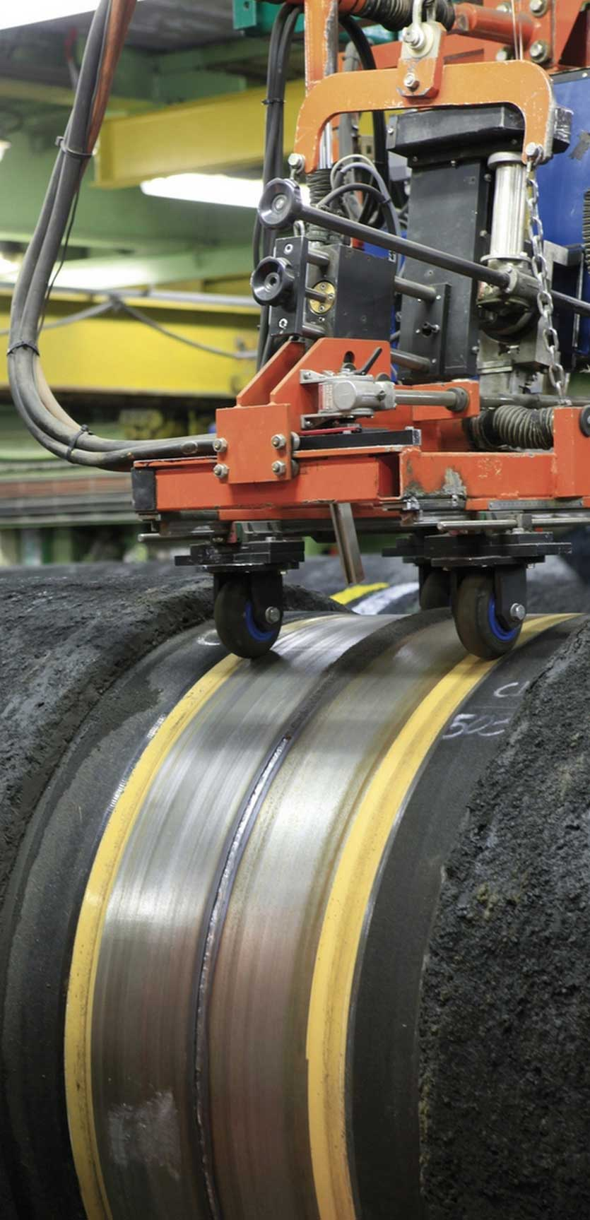Inspection of the welded pipes with automatic ultrasonic equipment