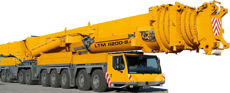 Liebherr LTM 11200-9.1, Max.load capacity 1.200ton